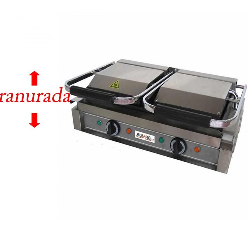 Sandwichera placa acanalada 570x395-3600 W para hostelería.
