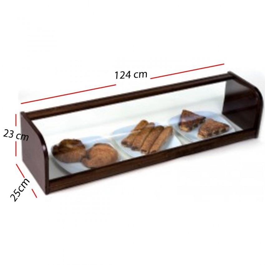 Vitrina Neutra Madera - Nogal 1010x250x230