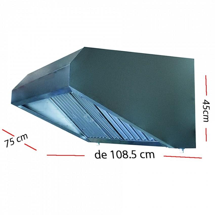 Campana industrial de 108.5.5 x 75 cm y 45 cm de altura