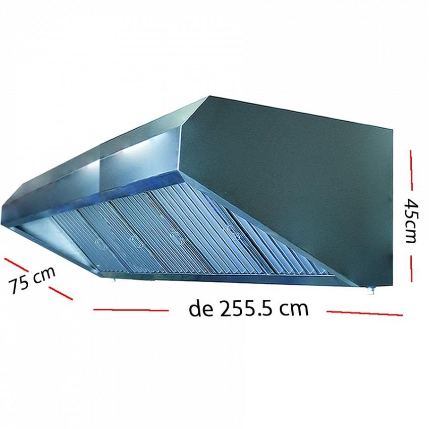 Campana industrial de 206.5 x 75 cm y 45 cm de altura