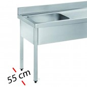 Fregaderos -Fondo 55 cm