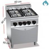 Cocina + Horno a Gas ECO sobremesa 4 Fuegos 22.5 Kw.