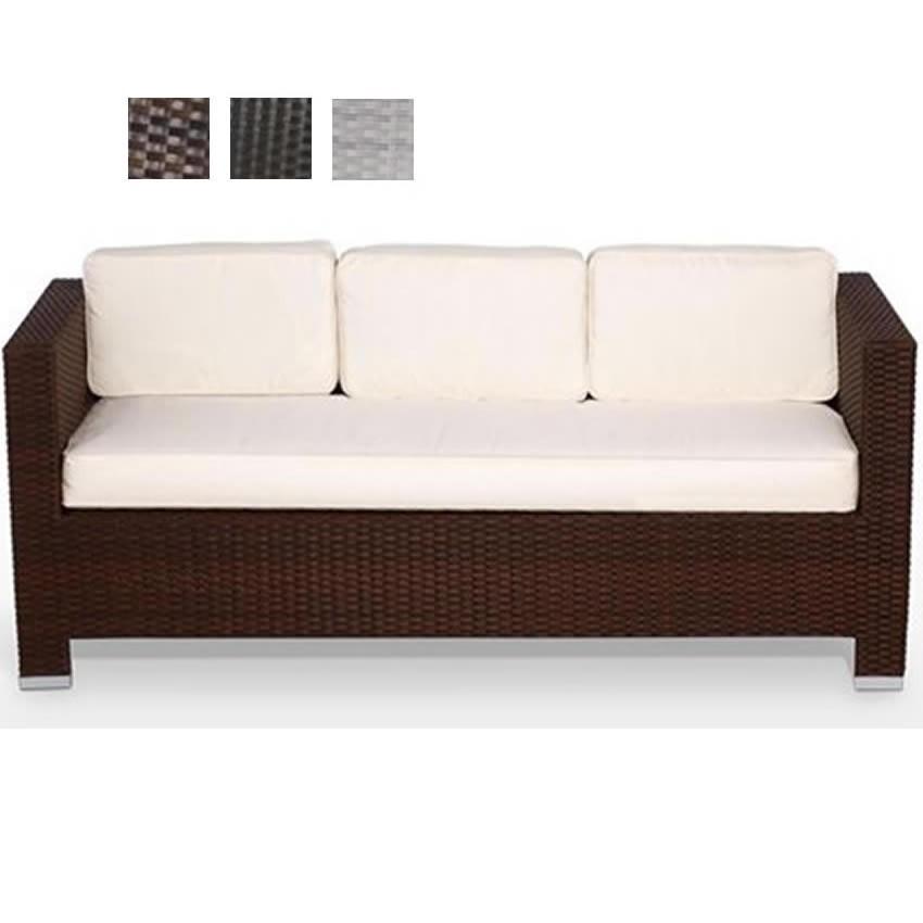 Sofa de dos plazas de ratan con cojin PREMIA