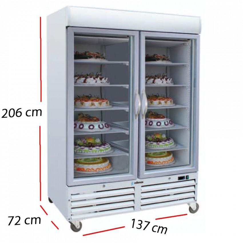 Expositor Congelador Puerta Cristal 1078 L. 1100 W.- ACE-902-C