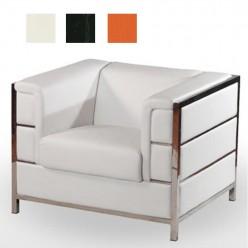 Sofa de una plaza ratan con cojin SITGES