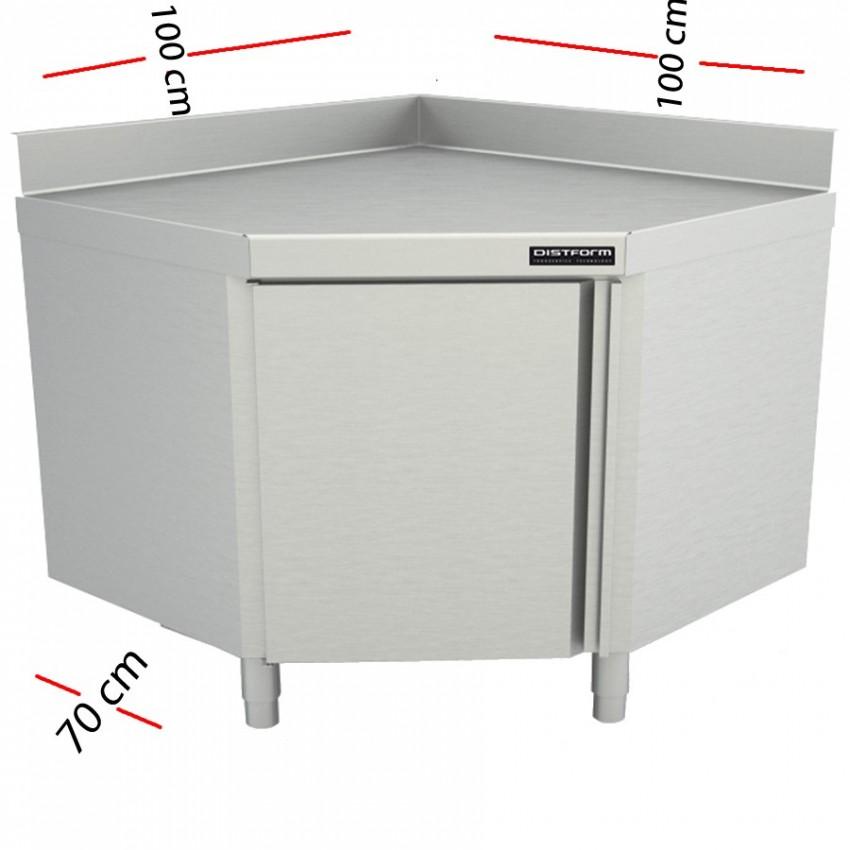 Mesa esquinera cerrada 70 cm