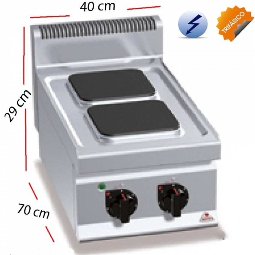 Cocina Eléctrica Fondo 70 - 2 Fuegos 5.2 kw. E7PQ2B