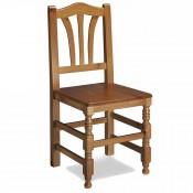 Silla de Madera para bar asiento de madera
