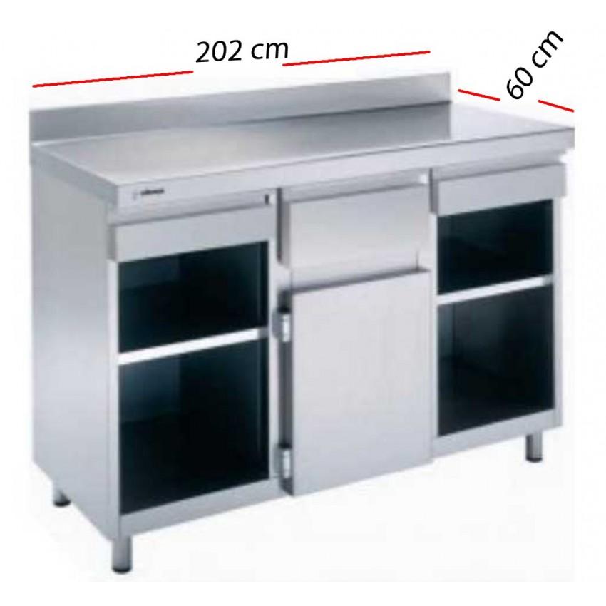 Mesas Cafeteras en Inox 202x60 - MAC-2060