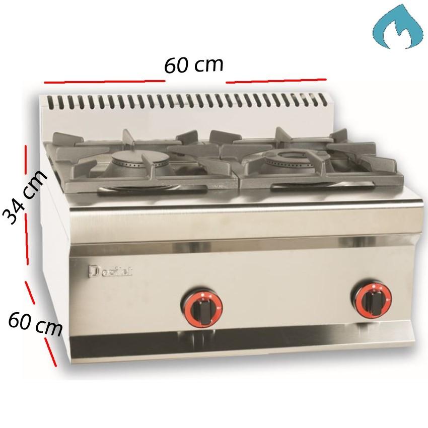 Cocina a Gas Fondo 60 - 2 F-3.5 Kw- L6CG60