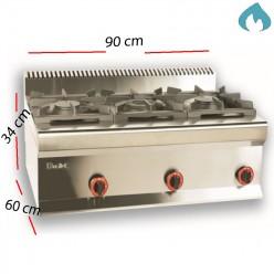 Cocina a Gas Fondo 60 - 3 F-3.5 Kw- L6CG90