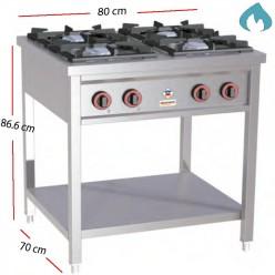 Cocina Gas  Fondo 70- 4 Fuegos 4 - 7 Kw