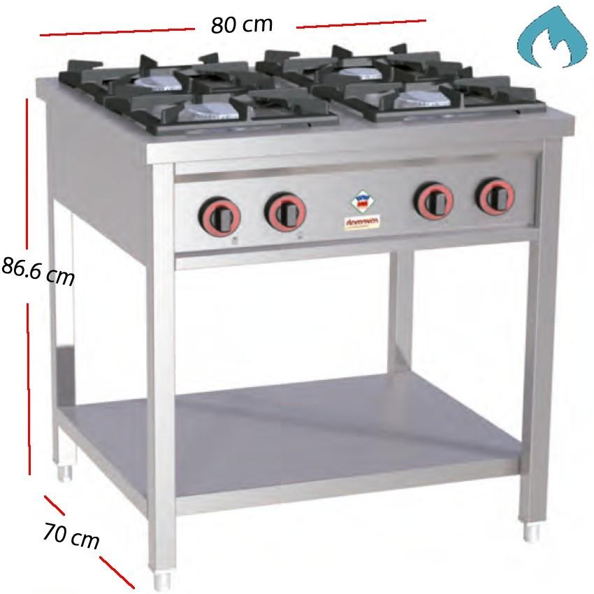 Cocina a gas con mueble para restaurantes potente for Cocina gas profesional