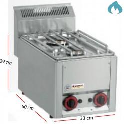 Cocinaa Gas  Eco Fondo 60- 2 Fuegos 3 - 3.6 Kw