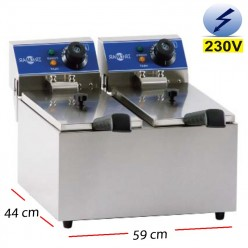 Freidora DOBLE Electrica Bar  6+6L.  6Kw.