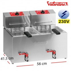 Freidora Bar Doble Potente 7+7 L. 12.5 Kw  - TF77
