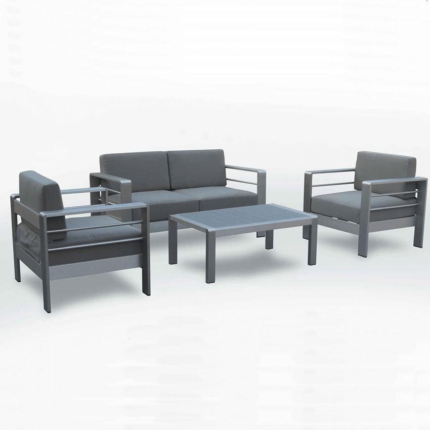Muebles de jard n conjunto macael para 4 personas - Conjunto muebles jardin ...