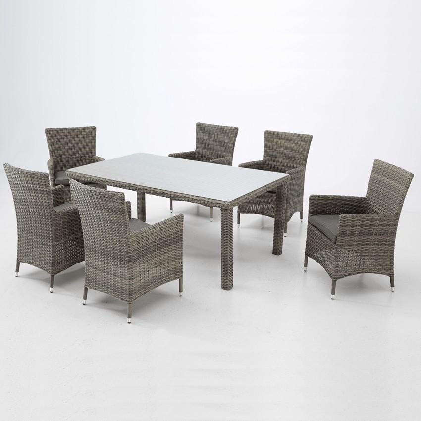 Muebles de comedor para jardín set Vilaboa
