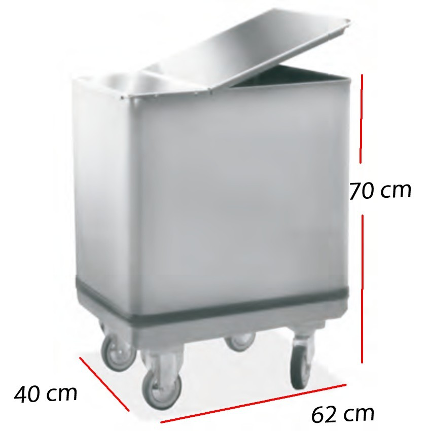 Carro caliente para 11 GN 2/1- 76 x 91 cm. 5 Kw.