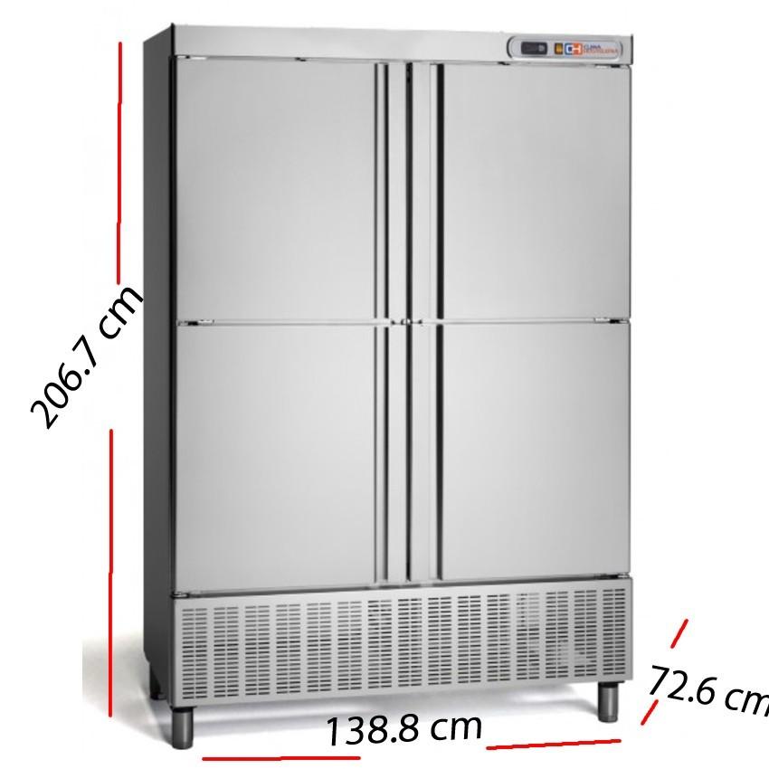 Armario frío 2 puerta Inox 675 W- ARCH-1202