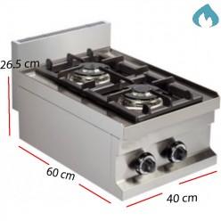 Cocina con 1 Fuego Fondo 60- 6 Kw. GS604