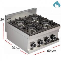Cocina con 2 Fuegos de 6 Kw Fondo 60- GC604