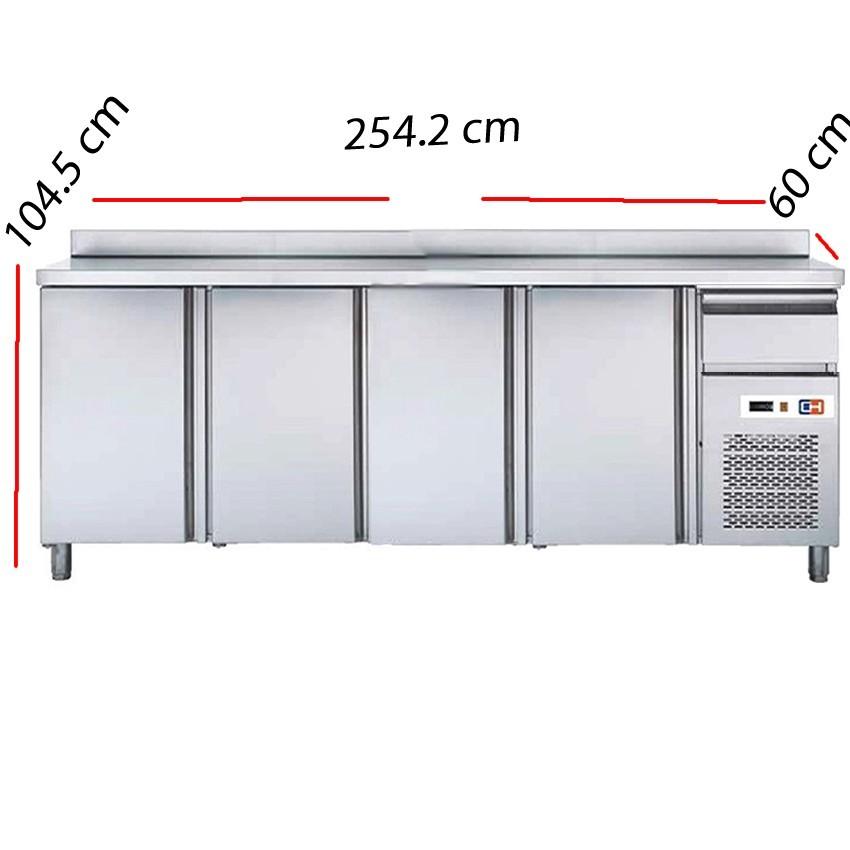 Frente mostrador frío 4 Puertas Fondo 60 cm- FMCH-250