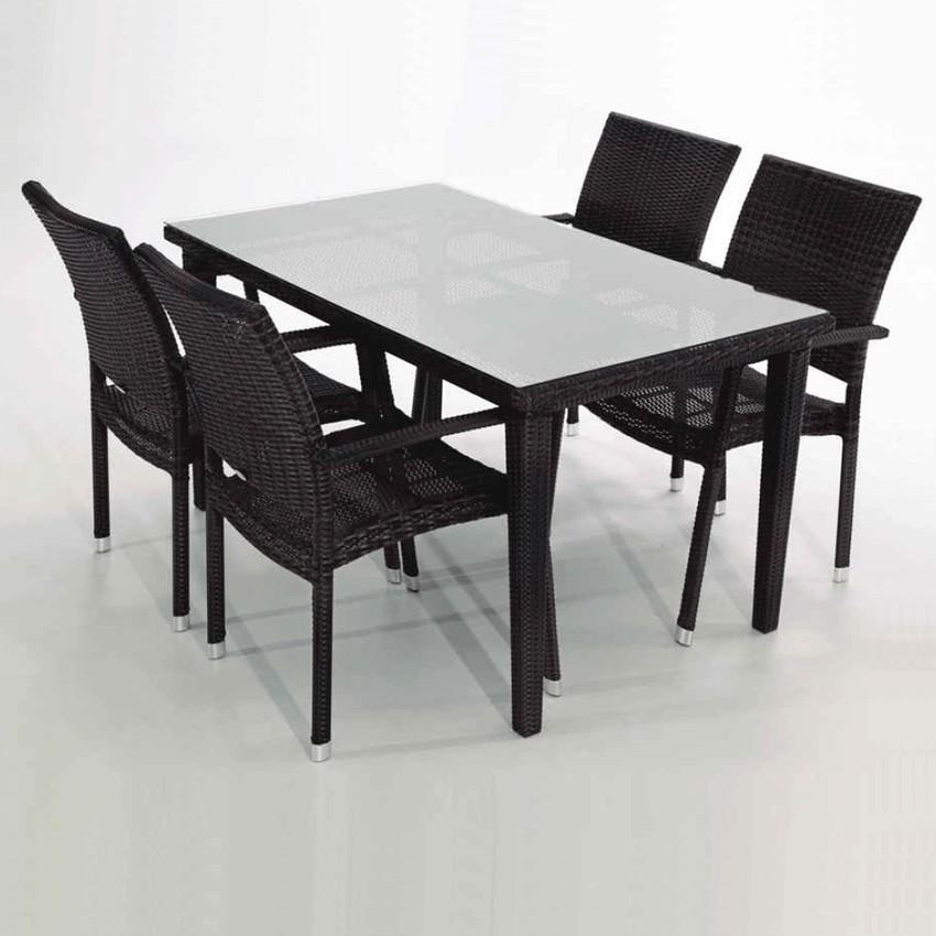 Muebles para jardines con piscina del set candeleda for Mesa y silla de muebles de jardin barato