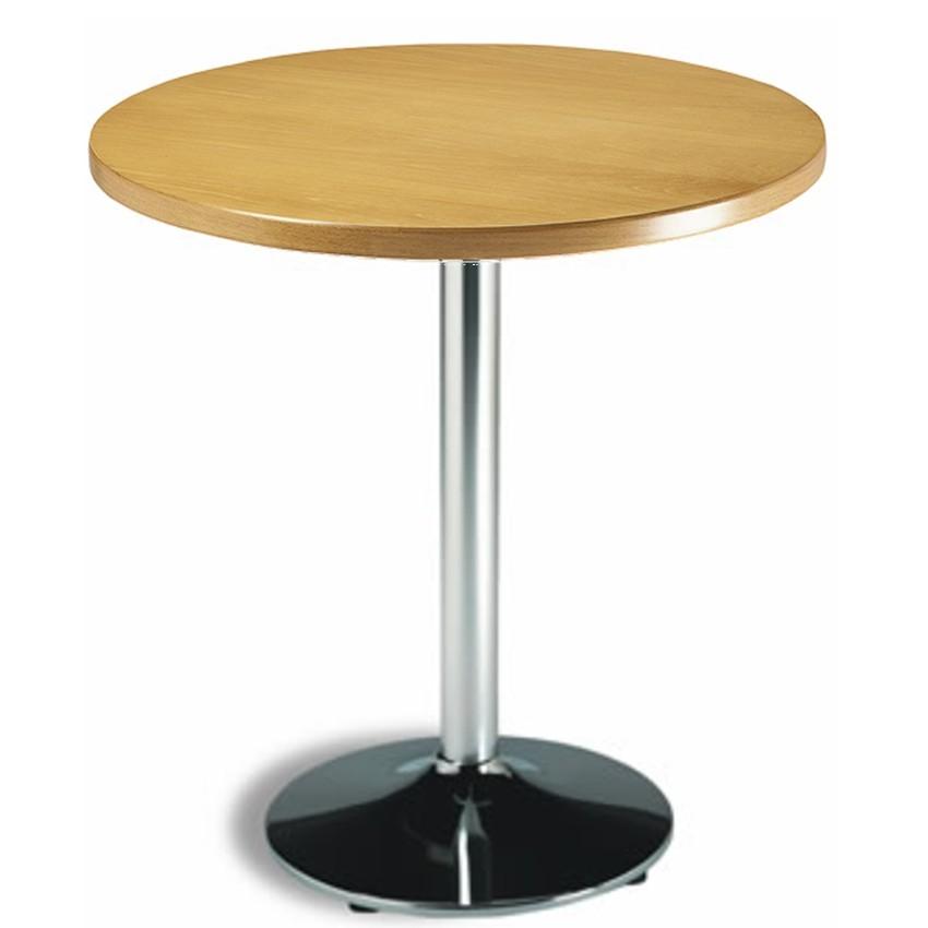 Mesa de bar Redonda 70 cm Madera- CACABELOS