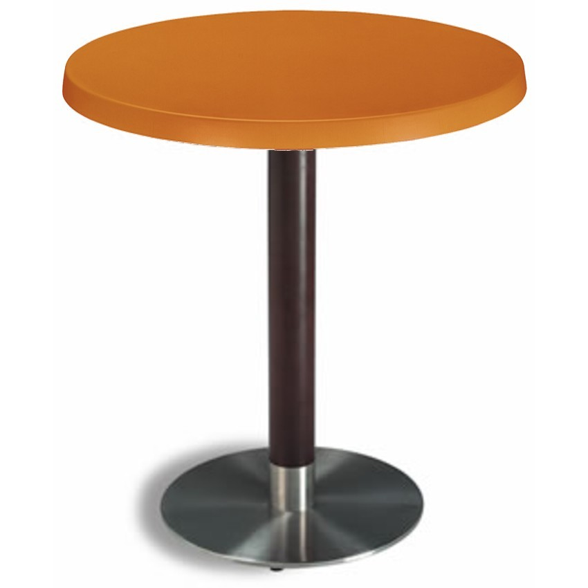Mesa de bar Acero-madera Ø60 cm SM- NOREÑA