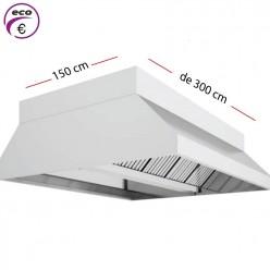 Campana central ECO de 300 cm x 150 cm y 70 cm de alto