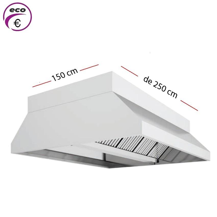 Campana central ECO de 200 cm x 150 cm y 70 cm de alto