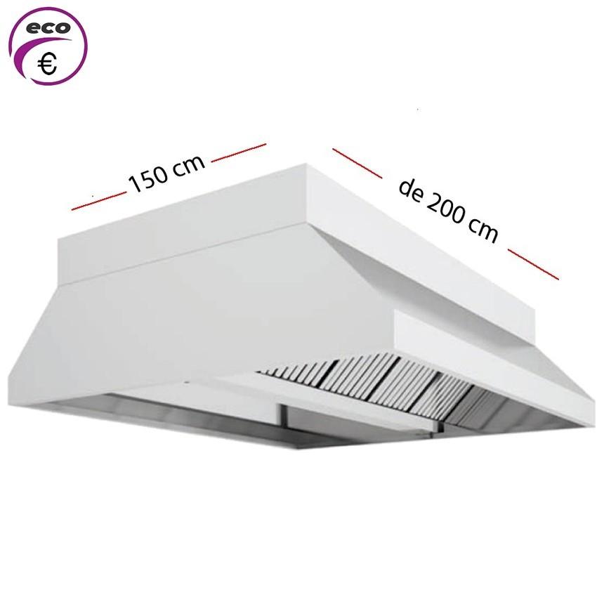 Campana central ECO de 150 cm x 150 cm y 70 cm de alto