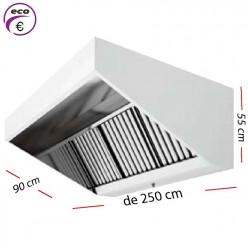 Campana industrial ECO de 200 x 90 cm y 50 cm de alto