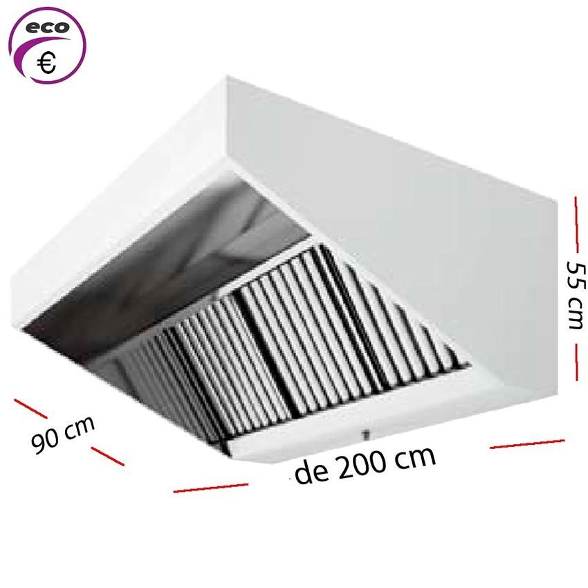 Campana industrial ECO de 150 x 90 cm y 50 cm de alto