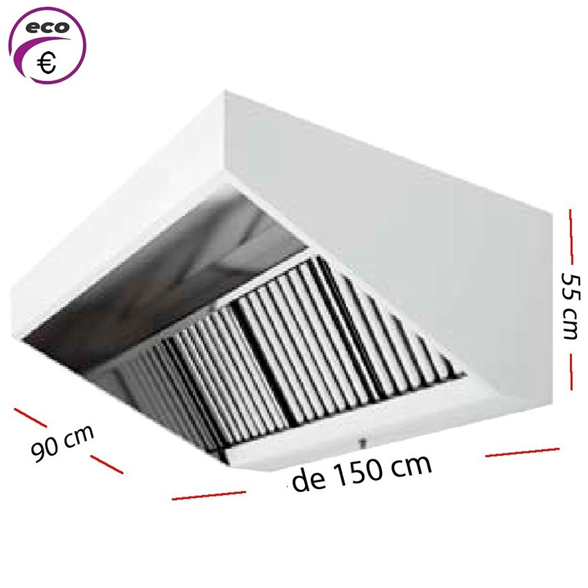Campana industrial ECO de 100 x 90 cm y 50 cm de alto