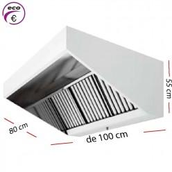 Campana industrial ECO de 150 x 110 cm y 70 cm de alto