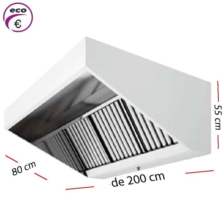 Campana industrial ECO de 300 x 110 cm y 70 cm de alto