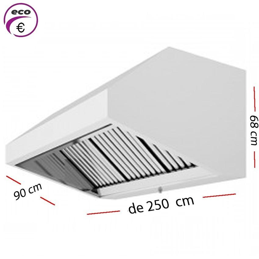 Campana industrial de 200 x 95 cm y 70 cm de alto