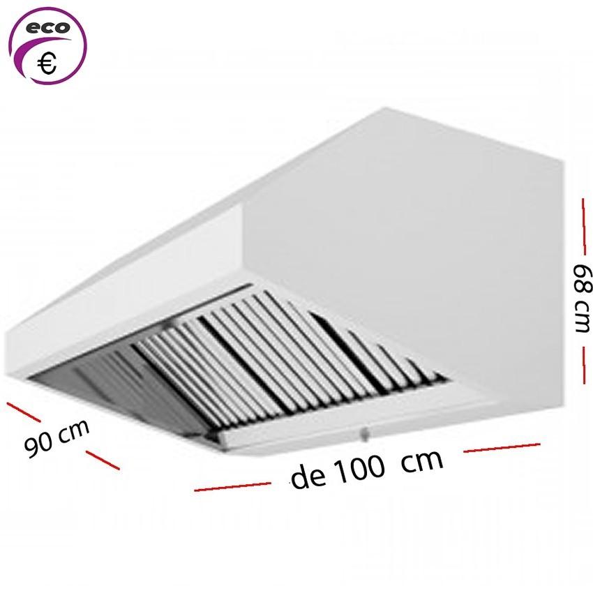 Campana industrial de 100 x 95 cm y 70 cm de alto