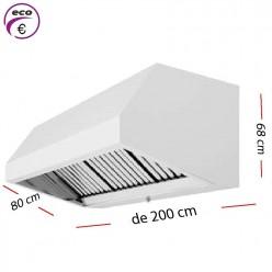 Campana industrial de 150 x 80 cm y 70 cm de alto