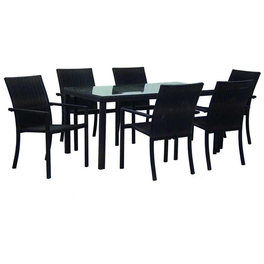 Conjunto de muebles Yuncler para comer al aire libre
