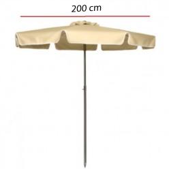 Sombrilla de terraza Acríico y mastil acero -200 cm COSTA