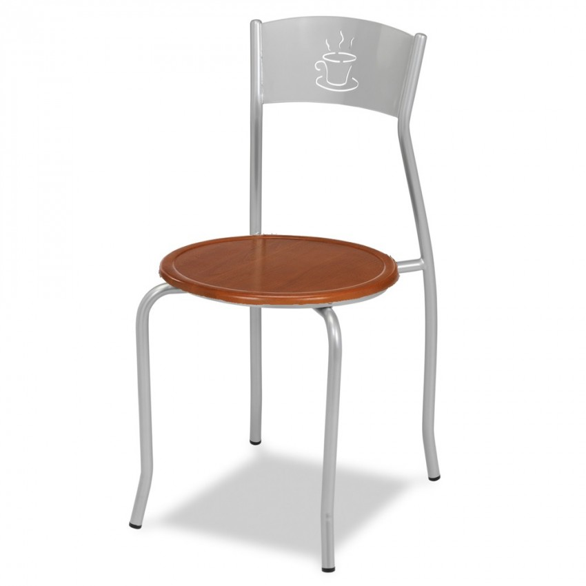 Silla de bar MR132 asiento madera