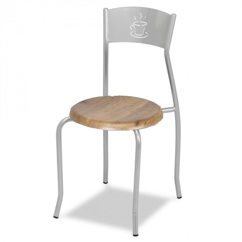 Silla de bar MR133 asiento madera