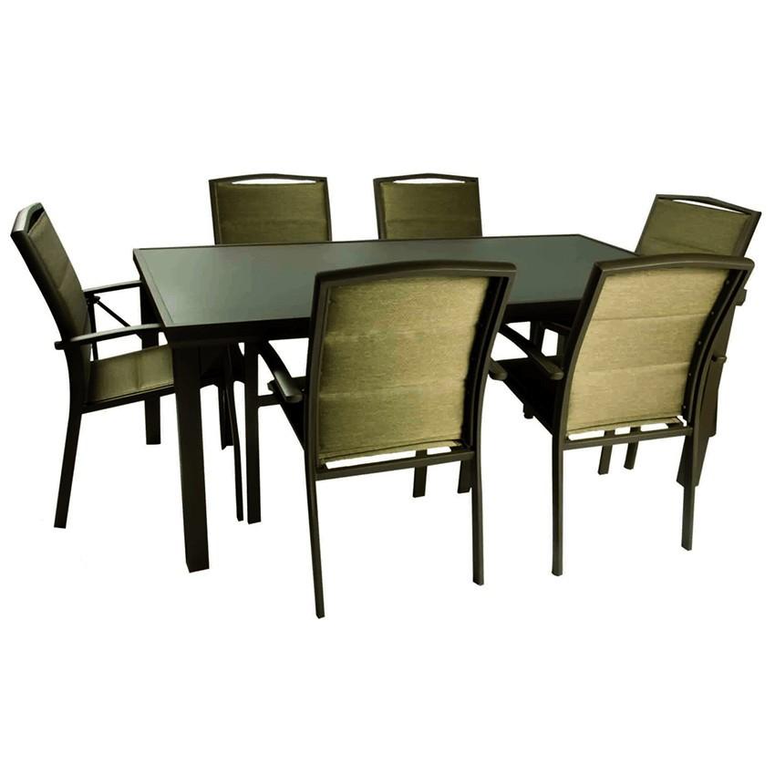 Conjunto de mobiliario para jardines serra en oro o plata for Conjunto mobiliario jardin