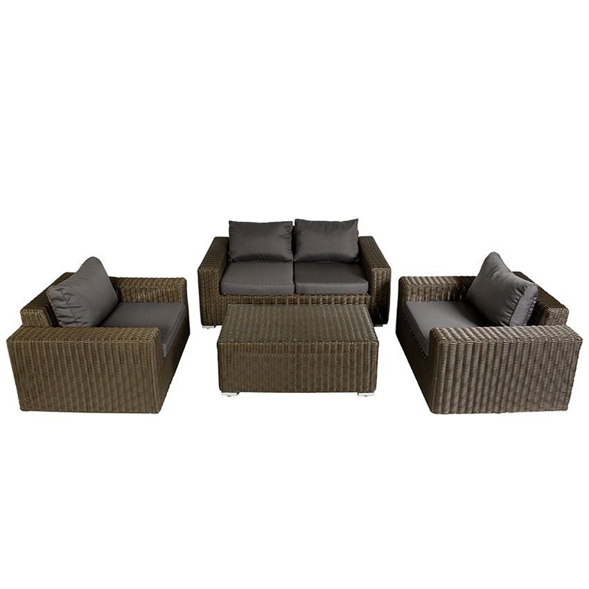 Conjunto de sofás modulares Gilet con reposapies