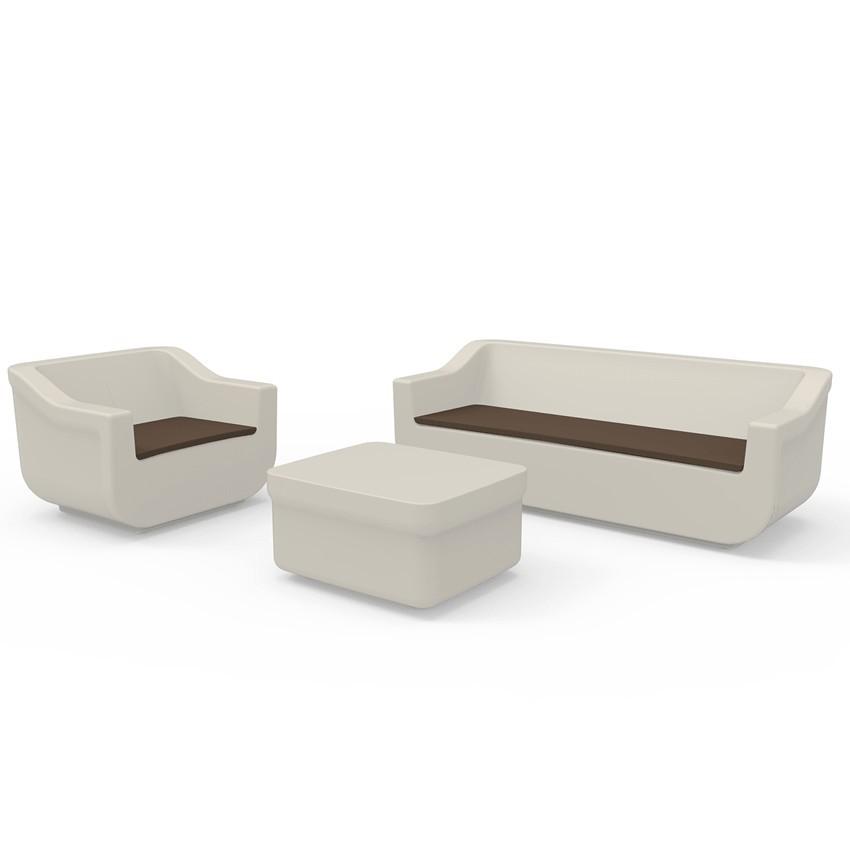 Conjunto de muebles de jardín Baralla en polietileno