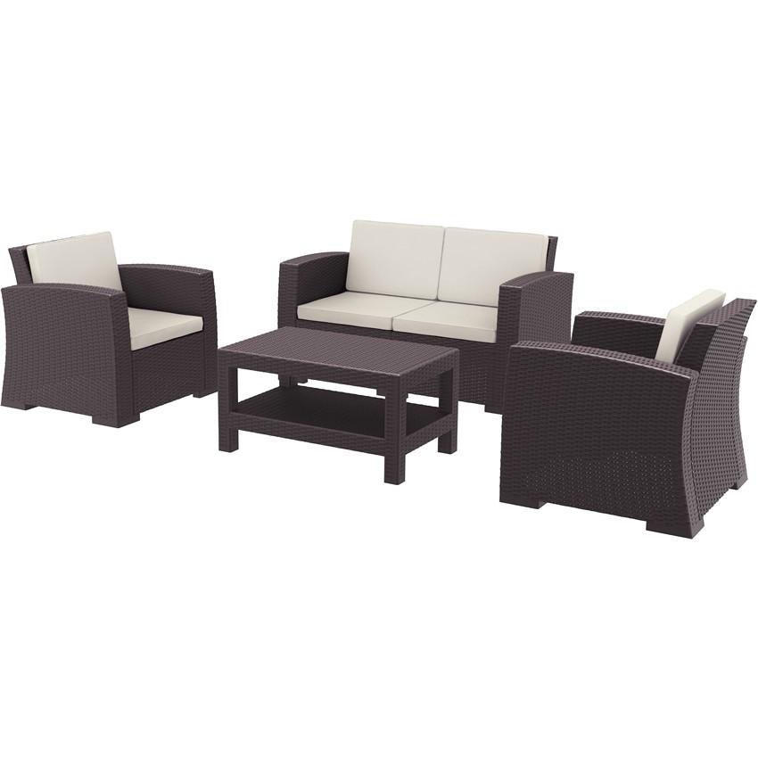 Conjunto de mobiliario para terrazas Pruna