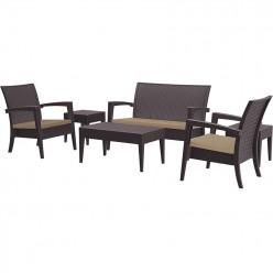 Conjunto de muebles de Jardín Petra en resina